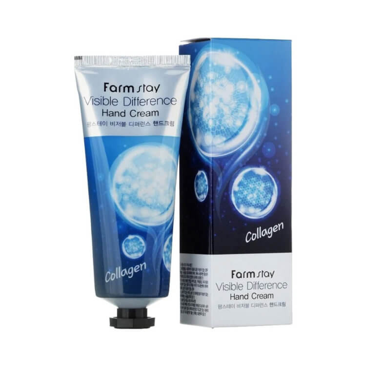Крем для рук с коллагеном FarmStay Visible Difference Collagen Hand Cream, 100г