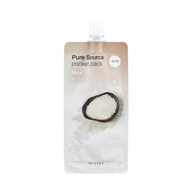 Пилинг-скатка с рисом Missha Rice Pure Source Pocket Pack, 10мл