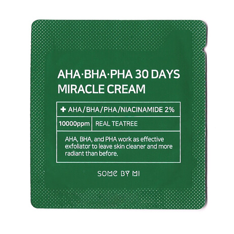 Пробник крема для лица с AHA, BHA и PHA кислотами Some By Mi AHA. BHA. PHA 30 Days Miracle Cream Samples