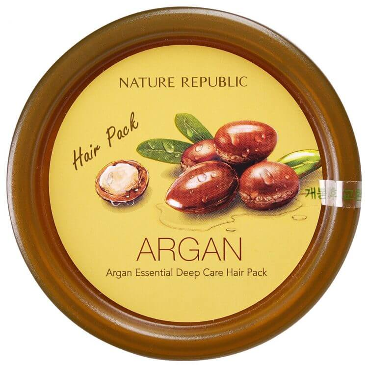 Восстанавливающая аргановая маска для волос Nature Republic Argan Essential Deep Care Hair Pack, 200мл
