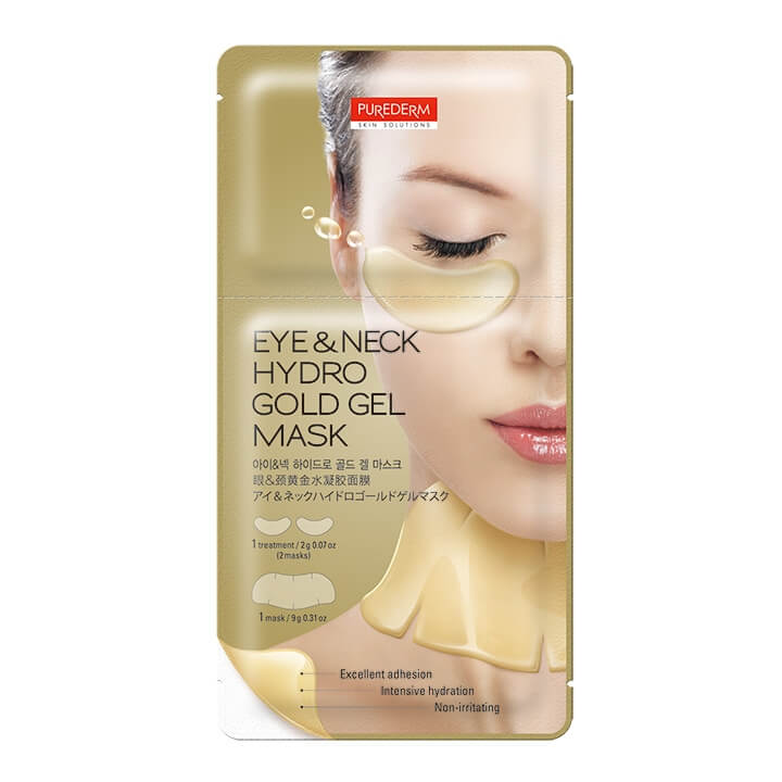 Маска для глаз и шеи Purederm Eye & Neck Hydro Gold Gel Mask
