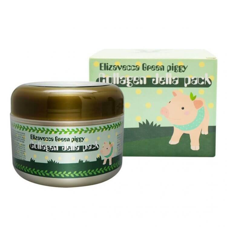 Коллагеновая маска Elizavecca Green Piggy Collagen Jella Pack, 100г