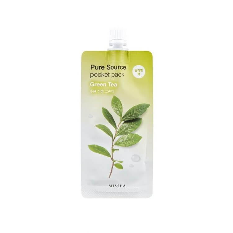 Ночная маска с зеленым чаем Missha Green Tea Pure Source Pocket Pack, 10мл