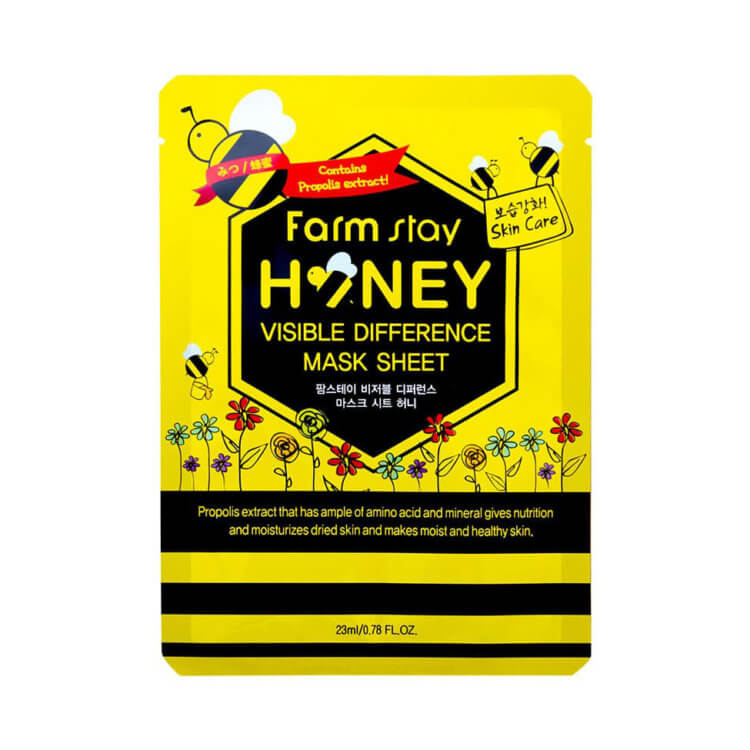 Тканевая маска с медом FarmStay Visible Difference Honey Mask Sheet