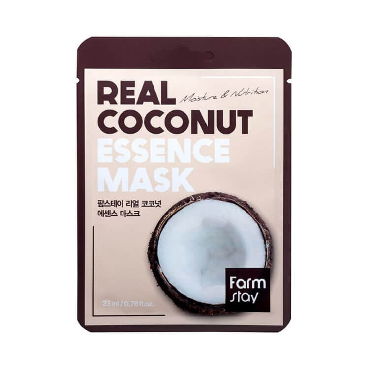 Тканевая маска с экстрактом кокоса FarmStay Coconut Real Essence Mask, 23мл