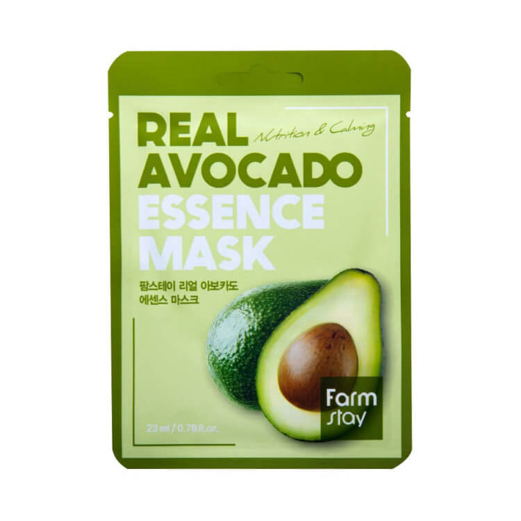 Тканевая маска с экстрактом авокадо FarmStay Avocado Real Essence Mask, 23мл
