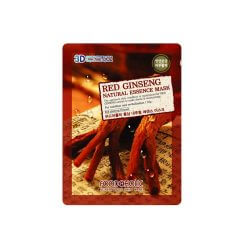 Тканевая маска с красным женьшенем Food A Holic Red Ginseng 3D Shape Natural Essence Mask