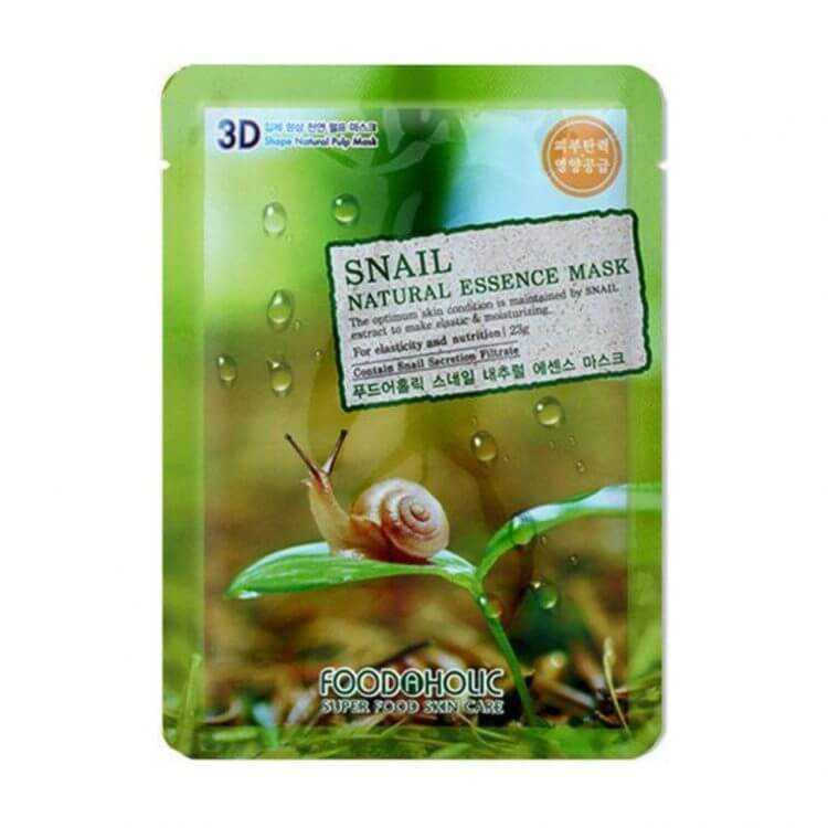 Тканевая маска с улиткой Food A Holic Snail 3D Shape Natural Essence Mask
