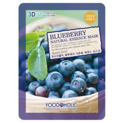 Тканевая маска с черникой Food A Holic Blueberry 3D Shape Natural Essence Mask