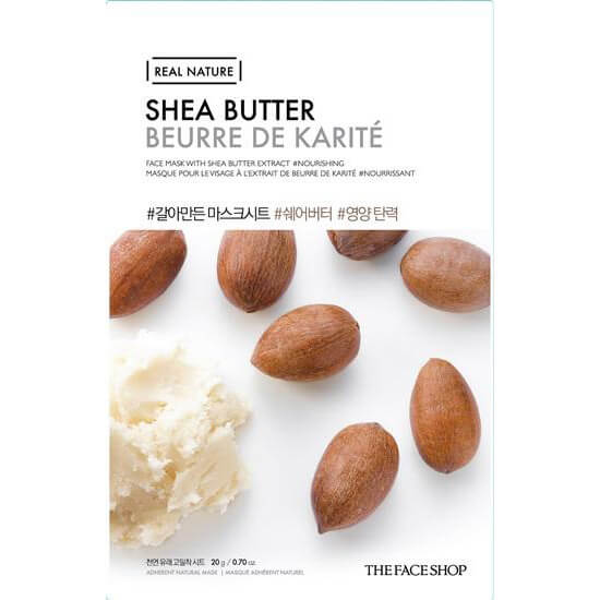 Тканевая маска с маслом ши The Face Shop Shea Butter Real Nature Face Mask