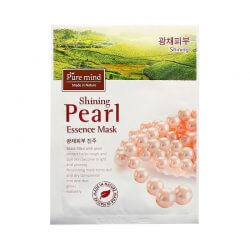 Тканевая маска для лица с жемчугом Pure Mind Shining Pearl Essence Mask