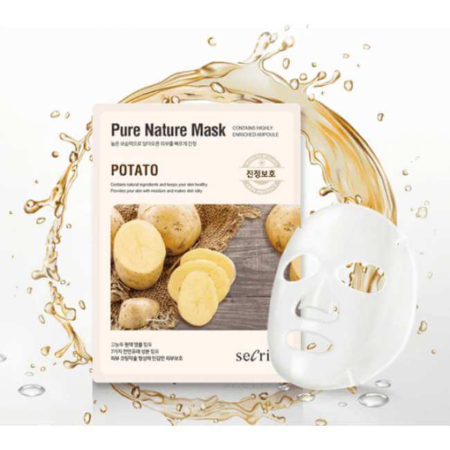 Тканевая маска с картошкой Secriss Potato Pure Nature Mask