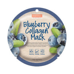 Тканевая маска для лица с черникой и коллагеном Purederm Blueberry Collagen Mask