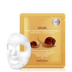 Тканевая маска с улиткой Medi Flower Snail Treatment Energizing Skin Mask