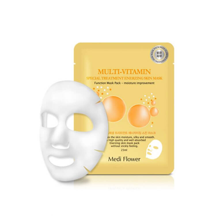 Тканевая маска с мультивитамином Medi Flower Multi-Vitamin Special Treatment WaterDrop Skin Mask