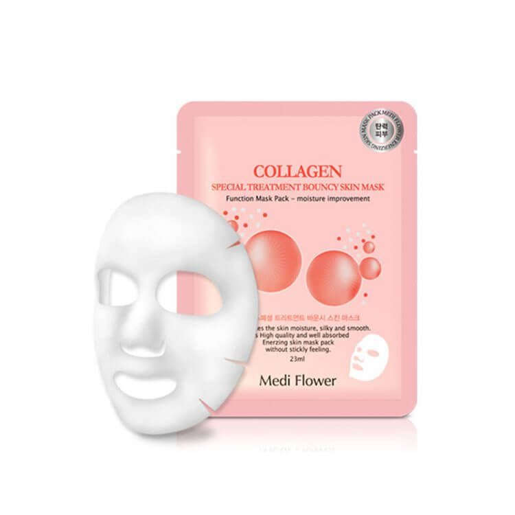 Тканевая маска с коллагеном Medi Flower Collagen Special Treatment WaterDrop Skin Mask