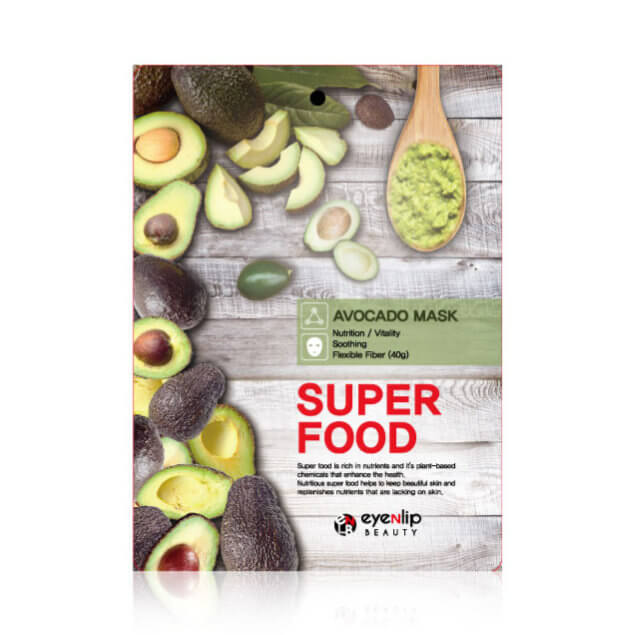 Тканевая маска с экстрактом авокадо Eyenlip Super Food Avocado Mask