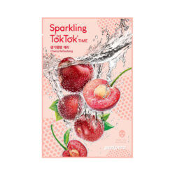 Тканевая маска с вишней Peripera Cherry Refreshing Sparkling TokTok Time Mask Sheet