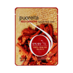 Тканевая маска с красным женьшенем Puorella Red Ginseng Natural Mask Sheet
