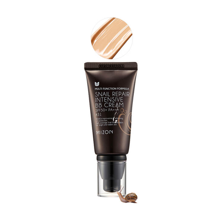 ББ крем с экстрактом муцина улитки Mizon Snail Repair Intensive BB Cream, тон 31, 50мл