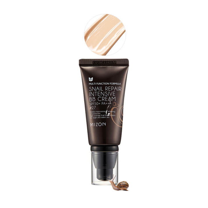 ББ крем с экстрактом муцина улитки Mizon Snail Repair Intensive BB Cream, тон 27, 50мл