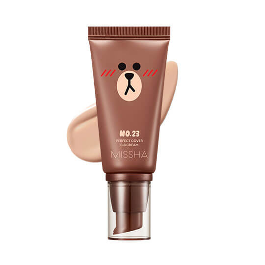 ББ-крем Missha M Perfect Cover BB Cream Line Friends Edition, тон 23 Натуральный Беж Natural Beige, 50мл