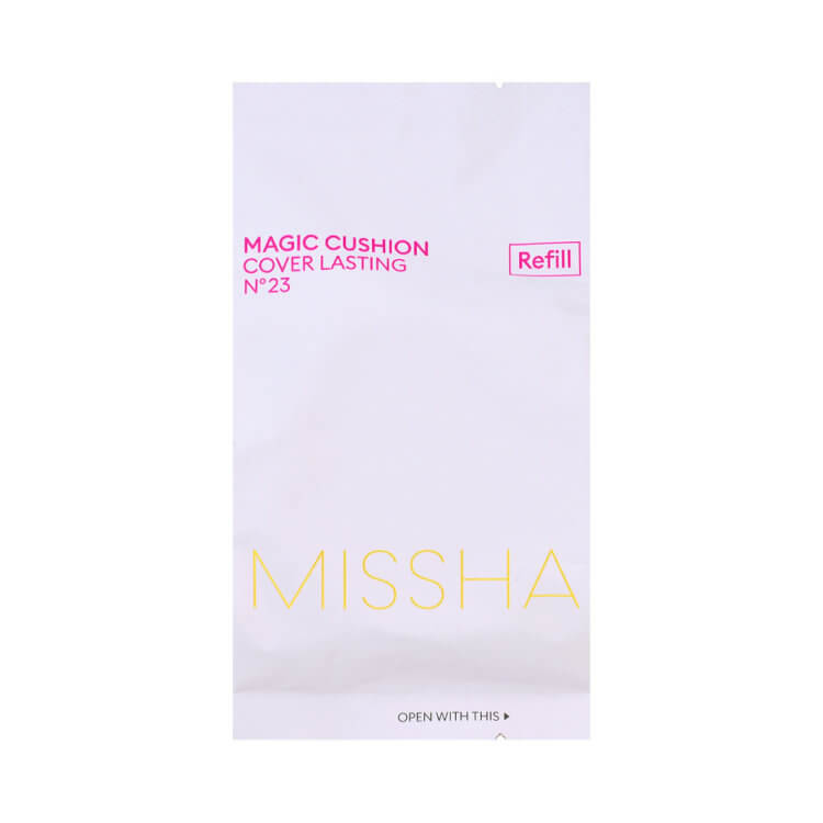 Сменный блок рефил для кушона Missha Magic Cushion Cover Lasting Refill SPF50+/PA+++, тон 23 Натуральный Беж Medium Beige, 15г
